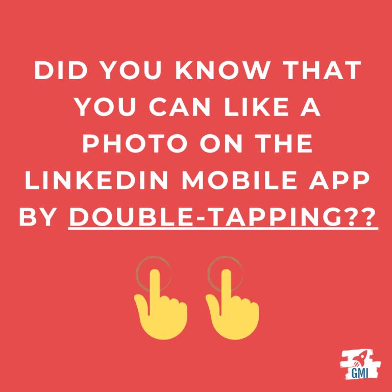 linkedin mobile app double tap