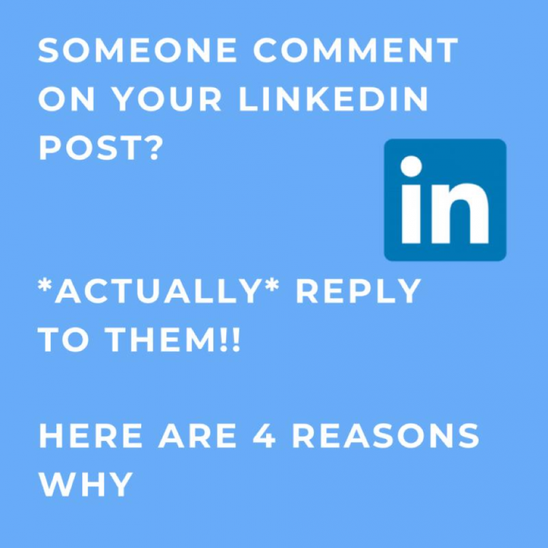 Why You Should Reply to Comments on LinkedIn